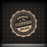Coffee logo emblem retro design template Royalty Free Stock Images