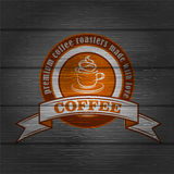 Coffee logo emblem retro design template Royalty Free Stock Photo
