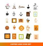 Coffee logo icon set Royalty Free Stock Photography
