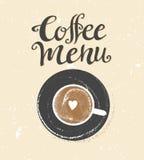Coffee logo illustration, design cafe menu, grunge vector background. stock illustration