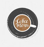 Coffee logo illustration, design cafe menu, hipster grunge  background. Royalty Free Stock Image
