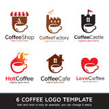 Coffee Logo Template Design Vector. This design suitable for logo or icon Royalty Free Stock Image