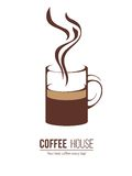 Coffee logo template Royalty Free Stock Photography
