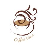 Coffee logo template Royalty Free Stock Photos