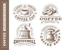 Coffee logo - vector illustration, emblem set on white background. Coffee logo - vector illustration, emblem set design on white background Stock Photography