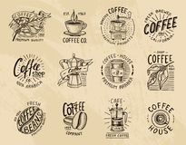 Coffee logos. modern vintage elements for the shop menu. Vector illustration. design decoration collection for badges vector illustration