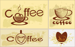 Coffee , logotype , menu . Royalty Free Stock Photos