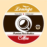Coffee Lounge Label Stock Photography
