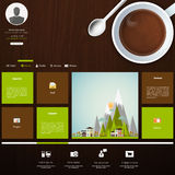 Coffee and lounge website design template. Website Template in editable vector format Stock Image