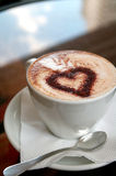 Coffee with love. Coffee drink with chockolate heart Stock Photo