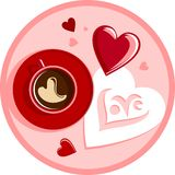 Coffee and love Stock Photo
