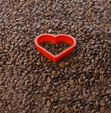 Coffee Love Shape Heart Beans royalty free stock photography