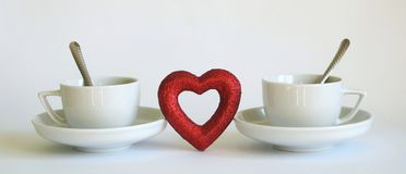 Coffee and love stock images