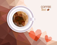 Coffee love background Royalty Free Stock Images