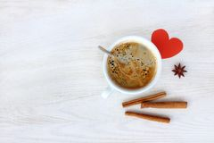 Coffee with love Stock Image