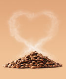 Coffee love with clipping path Royalty Free Stock Photography