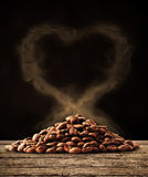 Coffee love with clipping path Royalty Free Stock Image