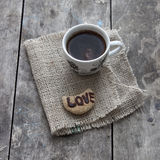Coffee with love Stock Photo