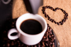 Coffee and love Stock Photos