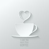 Coffee love paper cut design background Royalty Free Stock Photo