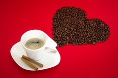 A coffee with love Stock Photo