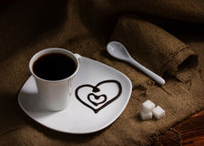 Coffee with love Royalty Free Stock Photography
