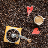 Coffee lover background Stock Photo