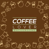 Coffee Lover Background. Royalty Free Stock Image