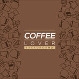 Coffee Lover Background. Royalty Free Stock Images