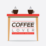 Coffee Lover Caffeine Addice. Royalty Free Stock Images