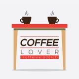 Coffee Lover Caffeine Addice. Coffee Lover Caffeine Addice Vector Illustration Royalty Free Stock Images