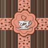 Coffee Lover Card Stock Photo