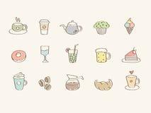 Coffee lover icon set Stock Image