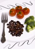 Coffee Lovers Dinner. A coffee lovers healthy dinner. All the basic needs are met Royalty Free Stock Images