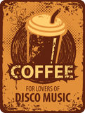 Coffee for lovers of disco music Royalty Free Stock Image