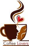 Coffee lovers logo Royalty Free Stock Image