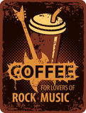 Coffee lovers of rock music Stock Images