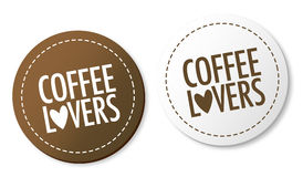 Coffee lovers stickers Stock Photography