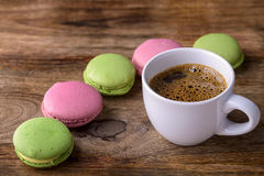 Coffee and macaron Royalty Free Stock Photos