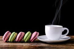 Coffee with macaron Stock Photo