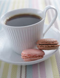 Coffee and Macarons Royalty Free Stock Images
