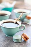 Coffee and Macarons Royalty Free Stock Photography