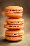 Coffee macarons Stock Images