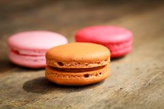 Coffee macarons Royalty Free Stock Photo