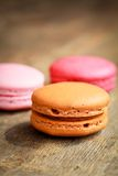 Coffee macarons Royalty Free Stock Images