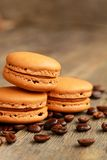 Coffee macarons Stock Image