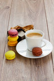 Coffee with macaroons Royalty Free Stock Image