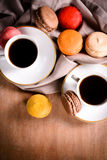 Coffee and macaroons Royalty Free Stock Photo
