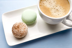 Coffee and macaroons. Royalty Free Stock Photography