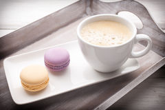 Coffee and macaroons. Stock Image